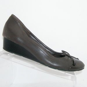 Cole Haan 'Air Tali' brown bow leather wedges 9.5M